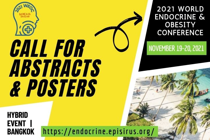 2021WEOC endocrine and obesity conference Call for abstracts and posters banner